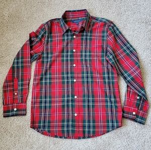 Boys crown and ivy plaid button down L